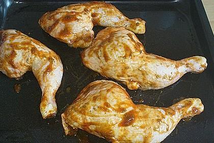 Knusprige Hähnchenkeulen / Hähnchenschenkel aus dem Ofen 105