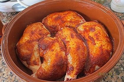 Knusprige Hähnchenkeulen aus dem Ofen 130