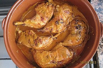 Knusprige Hähnchenkeulen / Hähnchenschenkel aus dem Ofen 106