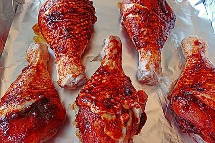Knusprige Hähnchenkeulen / Hähnchenschenkel aus dem Ofen 33