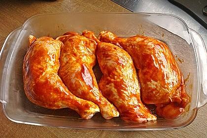Knusprige Hähnchenkeulen aus dem Ofen 100