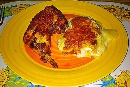 Knusprige Hähnchenkeulen / Hähnchenschenkel aus dem Ofen 74