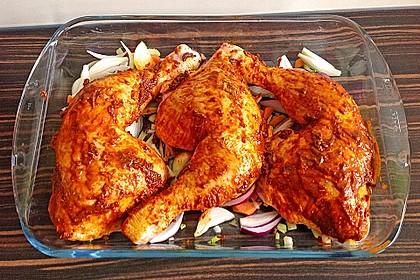 Knusprige Hähnchenkeulen / Hähnchenschenkel aus dem Ofen 29