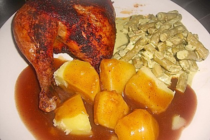 Knusprige Hähnchenkeulen / Hähnchenschenkel aus dem Ofen 47