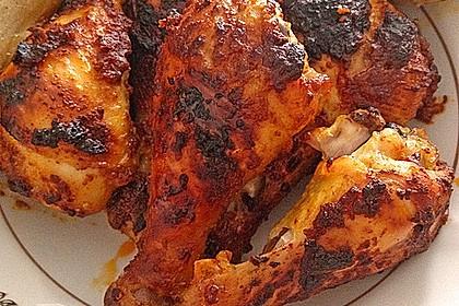 Knusprige Hähnchenkeulen aus dem Ofen 110