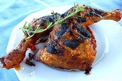 Knusprige Hähnchenkeulen / Hähnchenschenkel aus dem Ofen 73