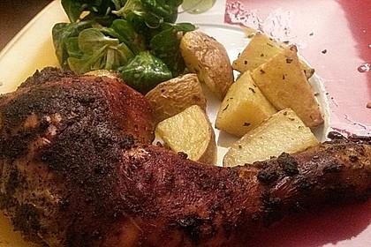 Knusprige Hähnchenkeulen / Hähnchenschenkel aus dem Ofen 60
