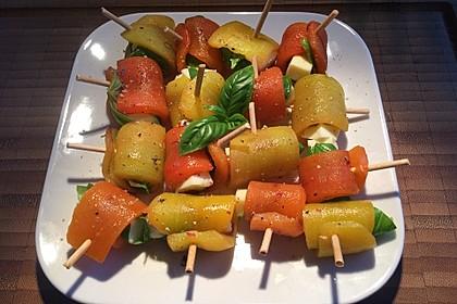 Paprika - Käse - Röllchen