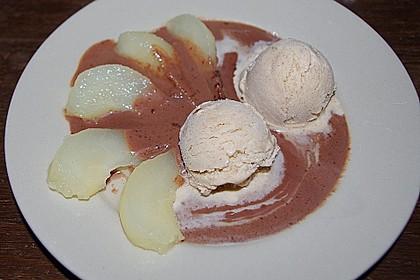 Zimteis mit Birnen und Lebkuchensauce 5