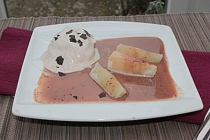 Zimteis mit Birnen und Lebkuchensauce 13