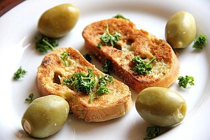 Eier - Knoblauch - Brot