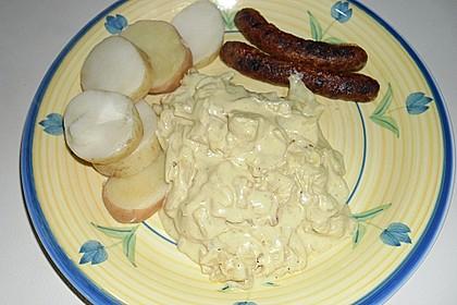 Kohl mit Crème fraiche und Senf 0