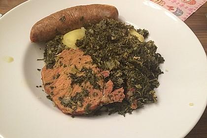 Grünkohl mit Kasseler, Mettwürstchen und Kartoffeln 18