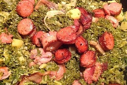 Grünkohl mit Kasseler, Mettwürstchen und Kartoffeln 28