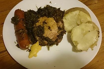 Grünkohl mit Kasseler, Mettwürstchen und Kartoffeln 27