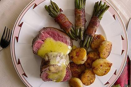Chateaubriand mit Speckbohnen, Macaire - Kartoffeln und Sauce Béarnaise 4