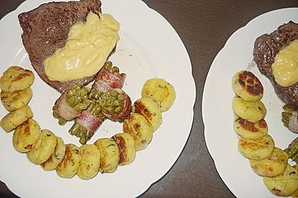 Chateaubriand mit Speckbohnen, Macaire - Kartoffeln und Sauce Béarnaise 8