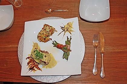 Chateaubriand mit Speckbohnen, Macaire - Kartoffeln und Sauce Béarnaise 11