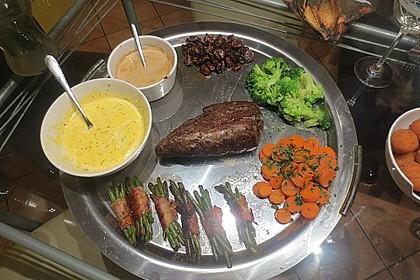 Chateaubriand mit Speckbohnen, Macaire - Kartoffeln und Sauce Béarnaise 12