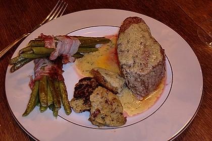 Chateaubriand mit Speckbohnen, Macaire - Kartoffeln und Sauce Béarnaise 13