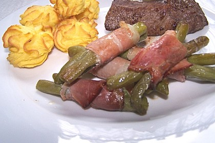 Chateaubriand mit Speckbohnen, Macaire - Kartoffeln und Sauce Béarnaise 9