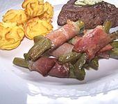Chateaubriand mit Speckbohnen, Macaire - Kartoffeln und Sauce Béarnaise
