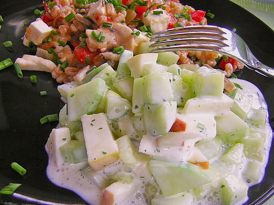 gurken apfel salat rezept mit bild von mickyjenny. Black Bedroom Furniture Sets. Home Design Ideas