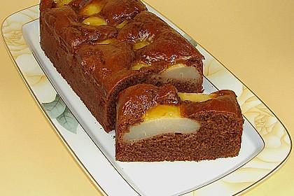 Birnen - Schokolade - Kuchen 4