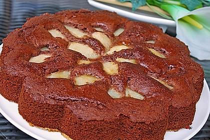 Birnen - Schokolade - Kuchen 13