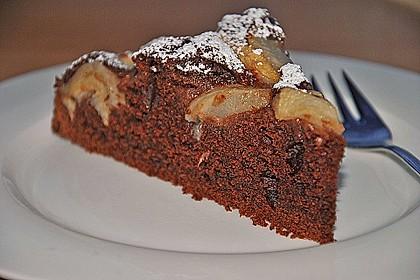 Birnen - Schokolade - Kuchen 6