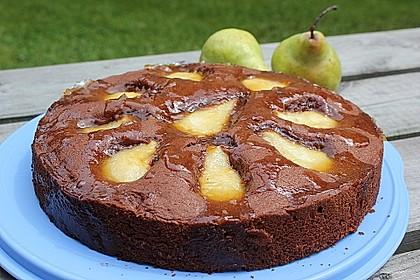 Birnen - Schokolade - Kuchen 24