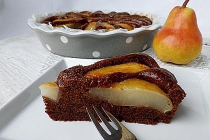 Birnen - Schokolade - Kuchen