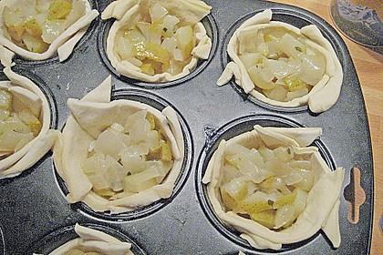 Herzhafte Tartelettes mit Apfel 7