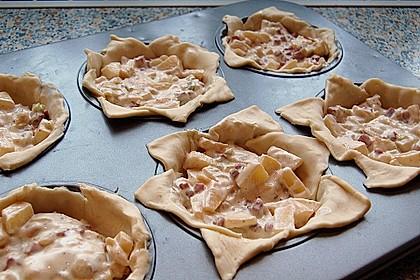 Herzhafte Tartelettes mit Apfel 6