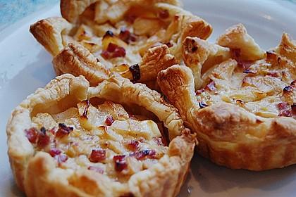 Herzhafte Tartelettes mit Apfel 4