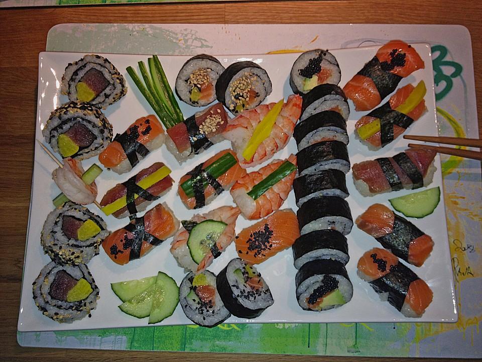 lachs sushi rezept mit bild von veilchen1958. Black Bedroom Furniture Sets. Home Design Ideas