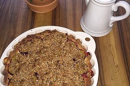 Zwetschgenkuchen mit Nuss - Streuseln und Hefeteig 18