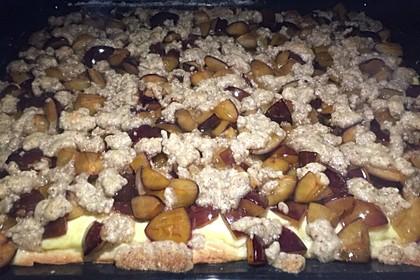 Zwetschgenkuchen mit Nuss - Streuseln und Hefeteig 30