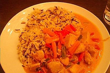 Fruchtig - scharfes, grünes Thai - Curry mit Hähnchen oder Pute 2