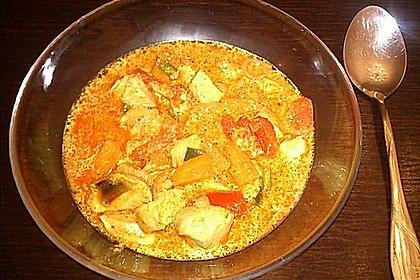 Fruchtig - scharfes, grünes Thai - Curry mit Hähnchen oder Pute 4