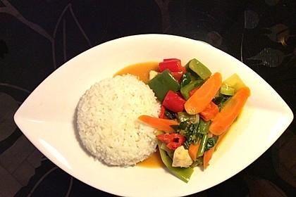 Fruchtig - scharfes, grünes Thai - Curry mit Hähnchen oder Pute