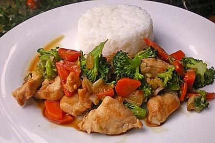 Hähnchenbrust nach Szechuan-Art mit Brokkoli 1