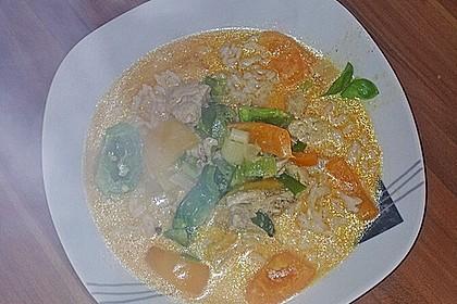 Hähnchen in Kokos - Curry - Soße 5