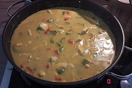 Hähnchen in Kokos Curry Soße 8