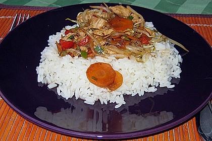 Huhn und Gemüse aus dem Wok 4