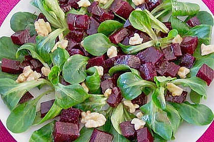 Feldsalat mit Roter Bete 4