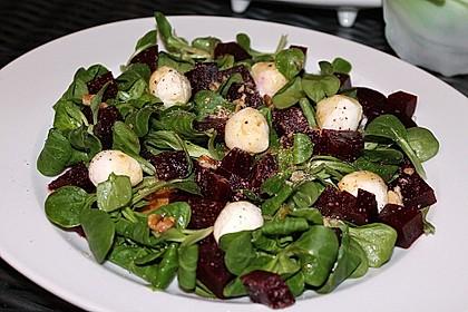Feldsalat mit Roter Bete 2