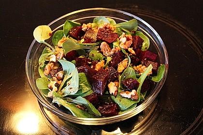 Feldsalat mit Roter Bete 3