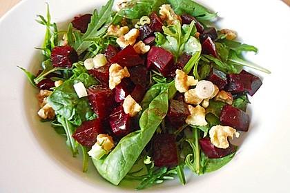 Feldsalat mit Roter Bete 5