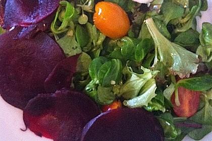 Feldsalat mit Roter Bete 9